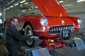 1957 Chevrolet Corvette at technical inspection